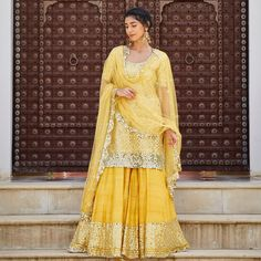 MOR BAGH - Twirling colorful lehengas, the clinking of colorful glass bangles and loud claps on the sides of women surrounded around my… Pakistani Bridal Wear, Pakistani Wedding Dresses, Indian Dresses, Indian Outfits, Punjabi Wedding, Bridal Mehndi, Bridal Lehenga, Mehendi Outfits, Bridal Outfits