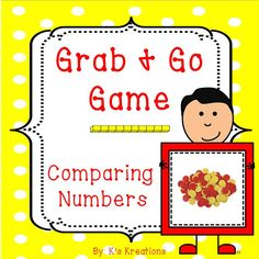 FREEBIE- Perfect for the beginning of the year! This partner game has students up and moving while learning to compare numbers.