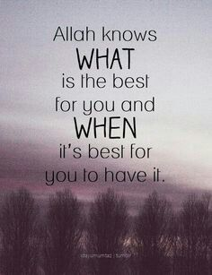Islamic quotes images saying : Allah knows what is the best for you and when it's best for you to have it Best Islamic Quotes, Beautiful Islamic Quotes, Muslim Quotes, Islamic Inspirational Quotes, Beautiful Images, Imam Ali Quotes, Allah Quotes, Sufi Quotes, Hindi Quotes