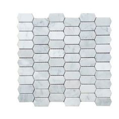 Honeycomb Honed 1 x 2 Marble Mosaic Tile - - Honeycomb Honed 1 x 2 Marble Mosaic Tile. Stone Mosaic Tile, Marble Mosaic, Mosaic Glass, Marble Tile Backsplash, Basalt Stone, Feature Tiles, Color Tile, Mosaic Patterns, Carrara