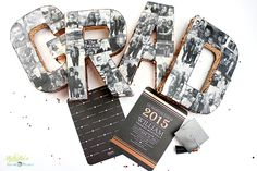 Here is a fun and unique graduation personalized photo centerpiece idea that you can DIY for your graduation party planning.