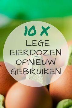 10 tips om lege eierdozen opnieuw te gebruiken