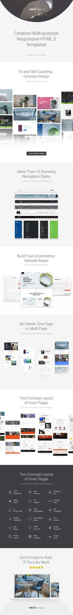 Enjoy our second product, multipurpose themes NECK! check the link : https://themeforest.net/item/neck-creative-multipurpose-responsive-html5-templates/19439776?s_rank=1