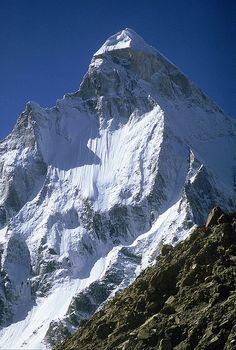 Shivling... Beautiful peak on the trail to the Gangotri Galacier and the Source of the Ganges, Uttarkashi, Uttarakhand, India.