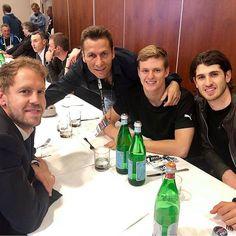 Sebastian Vettel, Mick Schumacher and Antonio Giovinazzi during the dinner before Mick Schumacher, F 1, I Don T Know, Turin, Formula One, Sandro, Cute Guys, Grand Prix, Ferrari