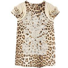 Roberto Cavalli Kids Robe en jersey milano imprimé léopard Prints - 84226 | Melijoe.com