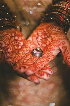 Rings + henna... stunning! Photo by f7photo.com on WedOverHeels.com
