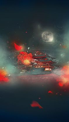 Fantasy Landscape, Fantasy Art, Cute Wallpapers, Wallpaper Backgrounds, Arte 8 Bits, Japon Illustration, China Art, Anime Scenery, Ancient Art