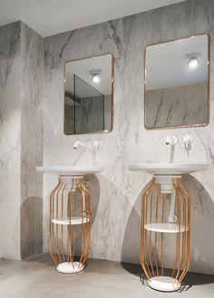 Home in Puerto de Alcudia by Minimal Studio - Home and Garden Decoration Washroom Design, Bathroom Interior Design, Interior Design Living Room, Wc Design, Bath Design, Bathroom Inspo, Bathroom Inspiration, Bathroom Flooring, Bathroom Furniture