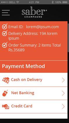 Saber ecommerce app