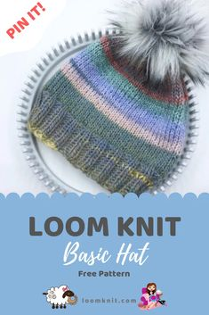 New Photos Basic Loom Knit Hat – LOOM KNIT Ideas Every week I'll have anything new to learn or a straightforward task to make. Knitting Loom Instructions, Loom Knitting For Beginners, Round Loom Knitting, Loom Knitting Stitches, Knifty Knitter, Loom Knitting Projects, Knitting Machine, Free Knitting, Sock Knitting
