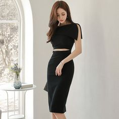 显瘦气质一字肩性感礼服裙