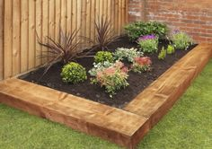 ideas garden borders ideas landscape edging railway sleepers for 2019 Flower Bed Borders, Flower Beds, Diy Flower, Landscaping With Rocks, Backyard Landscaping, Landscaping Design, Railway Sleepers Garden, Oak Sleepers, Small Gardens