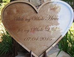 Heart shaped drop box guest book - Personalised Guestbook -Wedding Guest Book Alternative - Drop Heart