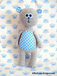 Pattern Amigurumi Pattern Amigurumi Toy Teddy Bear от AllSoCute