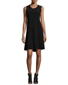 NORMA KAMALI Solid Swing Dress, Black. #normakamali #cloth #