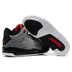 Air Jordan 3 suede Gray Black White Men Shoes For $56.90 Go To:  http://www.basketball-mall.com