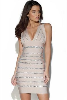 Just had to pin this Diamante Embellished Bandage Dress from www.vestryonline.com/