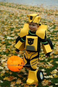 Cool Bumblebee Autobot Homemade Costume for Toddlers...