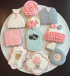 Shabby Chic boda ducha Cookies / una docena por ShopCookieCouture