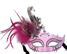 Pink Swan Masquerade Mask