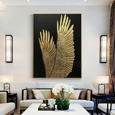 Gold leaf Painting Modern art Abstract original feather paintings on canvas art heavy texture extra Large wall Pictures cuadros abstractos Gold foil Painting Modern art Abstract original painting on canvas heavy texture extra Large Wall Ar Cow Paintings On Canvas, Acrylic Painting Canvas, Original Paintings, Canvas Art, Large Canvas, Texture Painting On Canvas, Modern Paintings, Feather Painting, Large Painting