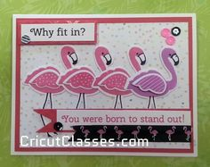 Cute CTMH Calipso and Flamingos by Dawne.