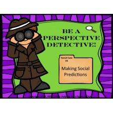 This activity is a fun way to work on perspective taking with your students. The scenario cards help students to think about what they need to know in order to make predictions about others thoughts, motives and behaviors, and why that is important. - See more at: http://autismeducators.com/Perspective-Detective-Making-Social-Predictions-KID-CODES-Helping-Kids-Figure-It-Out#sthash.TO5E0RDC.dpuf