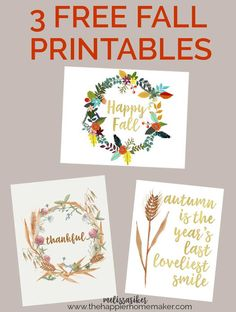 Free fall printables-I love using printable art to change up my autumn decor!