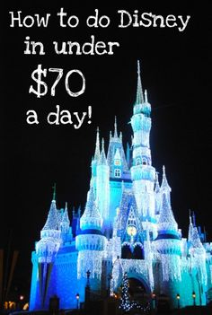 Hotel, food, car rental, parking, and Disneyland park tickets for under 70 dollars a day? Saving this for future! Viaje A Disney World, Disney World Vacation, Disney Vacations, Dream Vacations, Walt Disney World, Disneyland Trip, Disney Travel, Cheap Disney Vacation, Disneyland Ideas