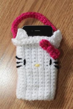 Hello Kitty crochet iphone cozy by crazyluv78 on Etsy, $5.00