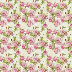 Papel de parede floral rosas em cores laranja verde e - Papeles pintados romanticos ...