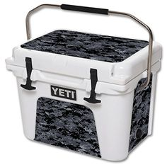 MightySkins Protective Vinyl Skin Decal for YETI Roadie 20 qt Cooler wrap cover sticker skins Digital Camo >>> You can find more details by visiting the image link.