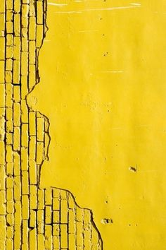 That amazing vibrant yellow texture wall brick mur briques jaune Yellow Brick Road, Yellow Walls, Mellow Yellow, Black N Yellow, Color Yellow, Pastel Yellow, Look 80s, Yellow Fever, Yellow Submarine