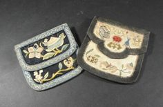 Vintage 1920s Chinese Export Embroidered Purses by MyBonnyMonAbri, $52.00