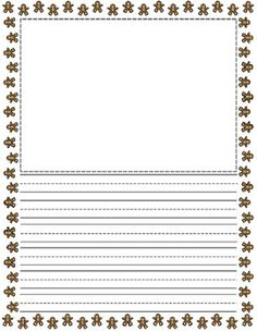 FREE Christmas Holiday Themed Writing Paper - Mrs. Magee - TeachersPayTeachers.com