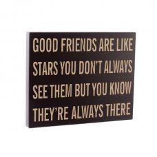 Heaven Sends Good Friends Are Like Stars Wall Plaque