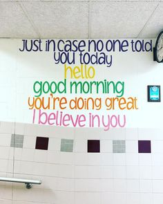 """From """"don't let anyone dull your sparkle,"""" to """"your voice matters,"""" here are some of the best classroom quotes for motivating & inspiring kids. quotes for kids 50 of Our All-Time Favorite Classroom Quotes Classroom Wall Quotes, Classroom Walls, Positive Classroom Quotes, Classroom Decor, Teaching Quotes, Education Quotes, Kids Education, Education City, Special Education"""