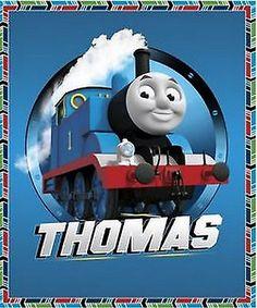 "Thomas The Tank Engine Train Character Cotton Fabric QT 36""X44"" Wall Panel"