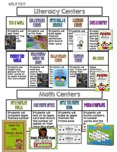 Visual Plans for the First Full Week of School - With Links to Lots of Freebies