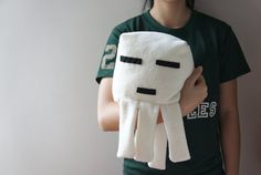 Handmade Minecraft Ghast Plushie by FurrysCrafts on Etsy, $32.00