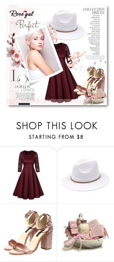 """""""// RoseGal // 11/90"""" by nura-akane ❤ liked on Polyvore featuring By Terry and vintage"""