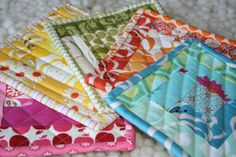 potholders...great way to practice quilting and I could use some new ones anyway