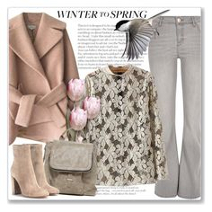 """""""Winter to Spring Layers"""" by andrejae ❤ liked on Polyvore featuring Carven, River Island, Urban Expressions, Gianvito Rossi and Wintertospring"""