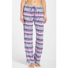 PJ Salvage 'Challe' Pajama Pants ($22) ❤ liked on Polyvore featuring intimates, sleepwear, pajamas, purple, p.j. salvage, p j salvage pajamas, p j salvage sleepwear, pj pants and purple pajamas