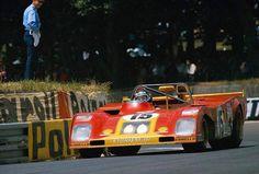 Jacky Ickx (Ferrari 312 PB 24 Heures du Mans source Carros e Pilotos. Sports Car Racing, Sport Cars, Race Cars, Auto Racing, 24 Hours Le Mans, Le Mans 24, Grand Prix, Nascar, Brian Redman