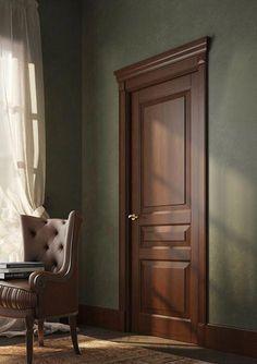 trendy front door colors with brown trim house exteriors Wooden Main Door Design, Double Door Design, Door Gate Design, Room Door Design, Interior Door Styles, Door Design Interior, Interior Doors, Modern Wooden Doors, Wooden Front Doors