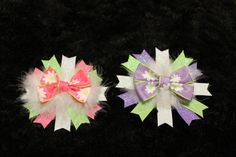 Beautiful Flower Basic bow with layered spikes by mLyCreations