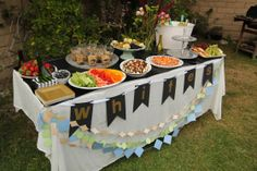 """Wine tasting party """"White Wine"""" table with appetizer pairings #winetasting #cheeseandwine"""