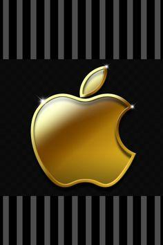 Apple Logo - Gold Iphone Logo, Apple Logo Wallpaper Iphone, Iphone Hintegründe, Apple Iphone, Iphone Homescreen Wallpaper, Wallpaper Iphone Disney, Cellphone Wallpaper, Cool Apple Logo, Ipod Backgrounds